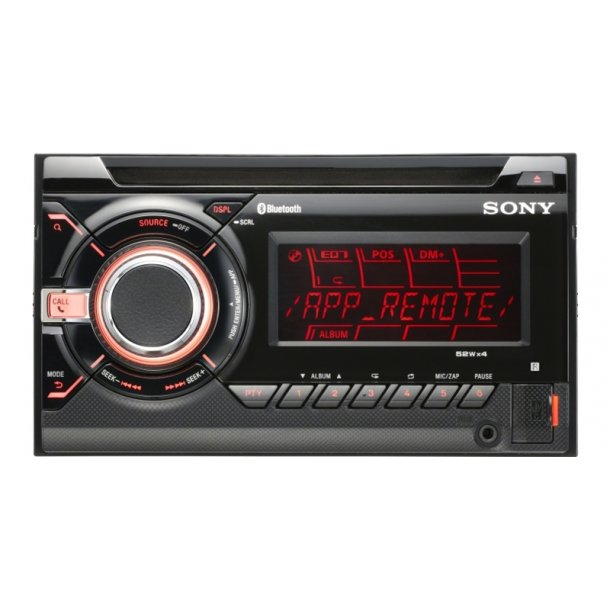 sony autoradio wxgt90bt 2 din med bluetooth cd radio. Black Bedroom Furniture Sets. Home Design Ideas