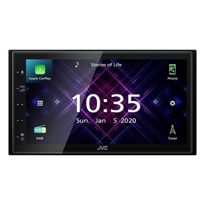 JVC autoradio KW-M565DBT 2 DIN App Radio / Carplay & Android DAB+