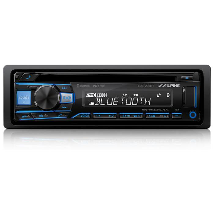 Image of   Alpine CDE-203BT 2-DIN CD/Turner 2 line out Bluetooth