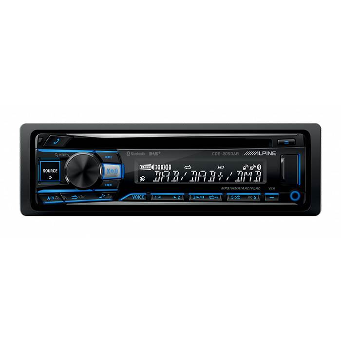 Image of   Alpine CDE196DAB CD/Tuner Bluethooth & DAB