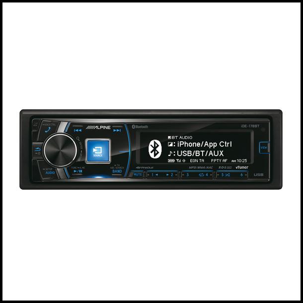 Alpine IDE-178BT Turner/Ipod afspiller Bluetooth 3 line out - Bilstereo - Dansk Autoudstyr