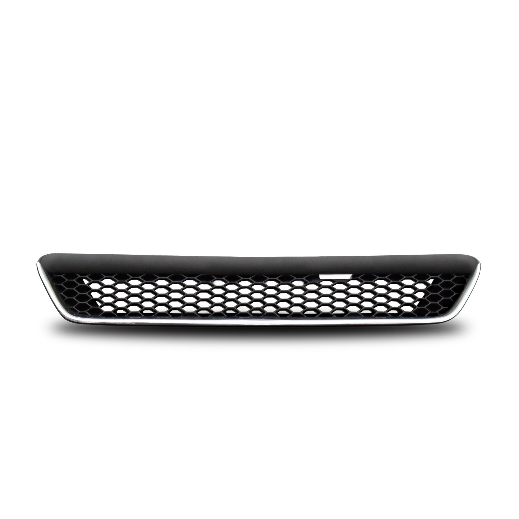 JOM Frontgrill sports look med diamant look i blank sort/krom til Opel Astra G - uden logo